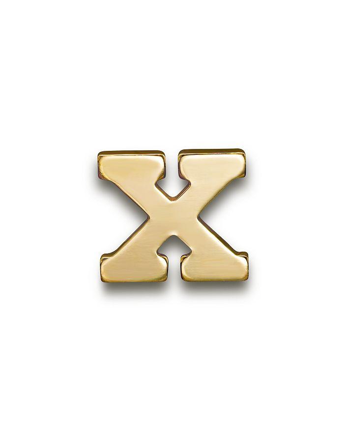 ZoË Chicco 14k Yellow Gold Single Initial Stud Earring In X