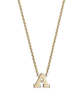 Zoë Chicco - 14K Yellow Gold Initial Necklace, 16""