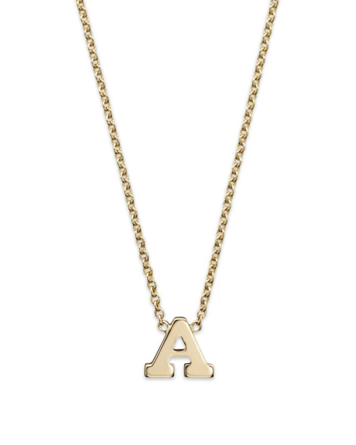 """Zoë Chicco 14K Yellow Gold Initial Necklace, 16""""  