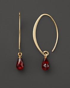 14K Yellow Gold Simple Sweep Earrings with Garnet - 100% Exclusive - Bloomingdale's_0