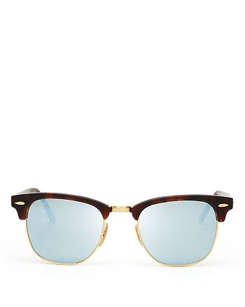 Ray-Ban - Unisex Mirrored Clubmaster Sunglasses, 51mm