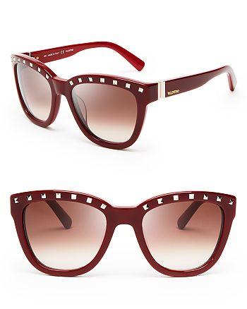 Valentino - Women's Rockstud Cat Eye Sunglasses, 52mm