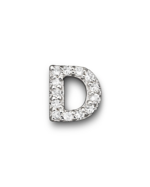 Click here for Kc Designs Diamond Initial Stud Earring in 14K Whi... prices