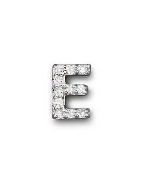 Click here for Kc Designs Diamond Initial Stud Earring in 14K White Gold prices