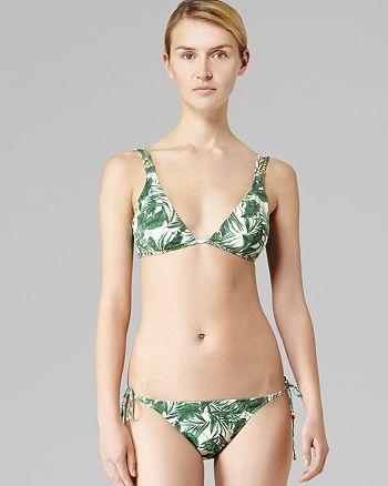 REISS - Tigra Leaf Bikini Top & Tigra Leaf Bikini Bottom