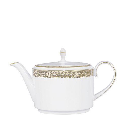 "Vera Wang - for Wedgwood ""Vera Lace"" Gold Teapot"