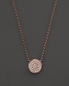 Kc designs necklaces bloomingdales kc designs diamond pav disc pendant necklace in 14k rose gold 175 bloomingdale aloadofball Image collections