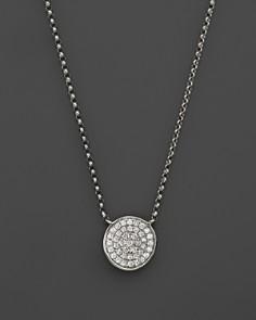 KC Designs Diamond Pavé Disc Pendant Necklace in 14K White Gold, .13 ct. t.w. - Bloomingdale's_0