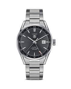 TAG Heuer Carrera Calibre 7 Twin-Time Stainless Steel and Anthracite Dial Watch, 41mm - Bloomingdale's_0