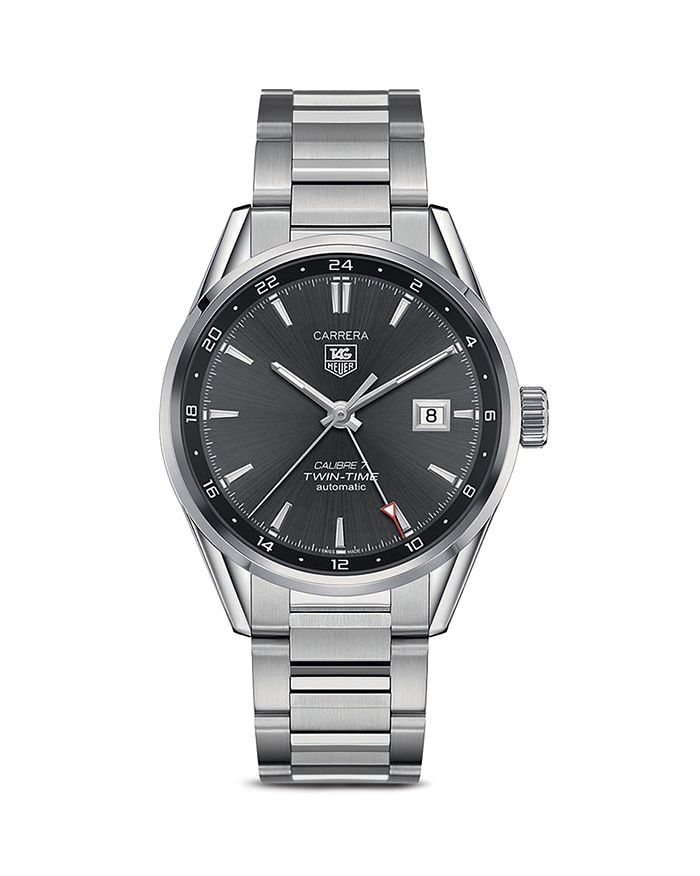 TAG Heuer - Carrera Calibre 7 Twin-Time Stainless Steel Watch, 41mm