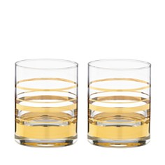 kate spade new york Hampton Street Double Old-Fashioned Glass, Set of 2 - Bloomingdale's Registry_0