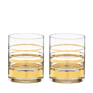 kate spade new york Hampton Street Double Old-Fashioned Glass, Set of 2