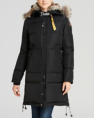 Parajumpers Long Bear Fur-Trim Down Coat