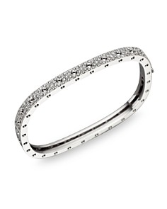 Roberto Coin 18K White Gold and Diamond Pois Moi Single Bangle, 1.35 ct. t.w. - Bloomingdale's_0