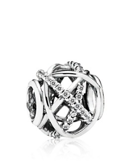 Pandora - Moments Collection Sterling Silver & Cubic Zirconia Galaxy Charm