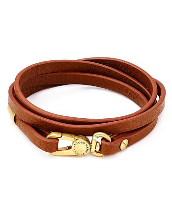 Marc By Jacobs Looped Double Wrap Leather Bracelet