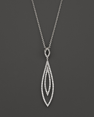 Diamond Double Layer Drop Pendant Necklace in 14K White Gold, 1.0 ct. t.w. - 100% Exclusive