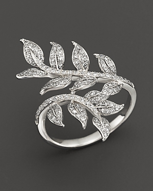Click here for Diamond Leaf Ring in 14K White Gold  .50 ct. t.w. prices