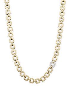 "Roberto Coin 18K Yellow and White Gold Mini Diamond Pois Moi Collar Necklace, 16"" - Bloomingdale's_0"