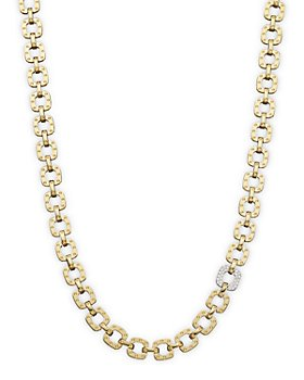 Roberto Coin - 18K Yellow and White Gold Mini Diamond Pois Moi Collar Necklace, 16""