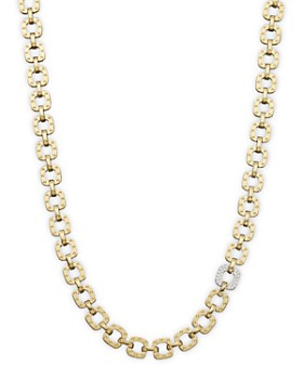 "Roberto Coin - 18K Yellow and White Gold Mini Diamond Pois Moi Collar Necklace, 16"""