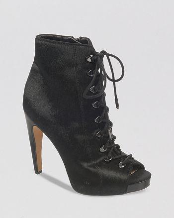 Sam Edelman - Open Toe Platform Booties - Karmen High-Heel