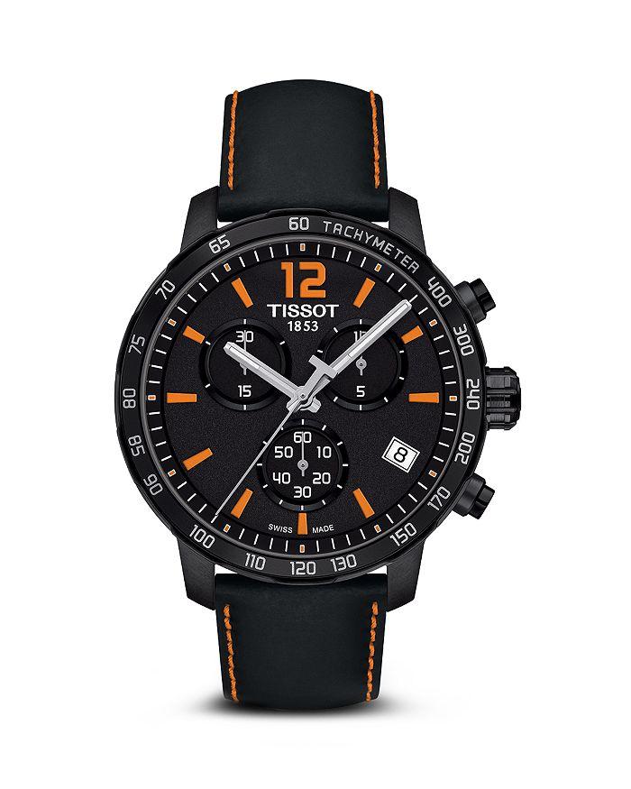 Tissot - Quickster Men's Quartz Chronograph Black and Orange Dial Watch, 42mm