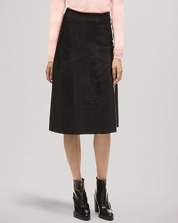 Whistles - Skirt - Courtney Leather Fit and Flare