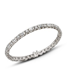 Bloomingdale's - Diamond and Baguette Bracelet in 14K White Gold, 3.0 ct. t.w. - 100% Exclusive