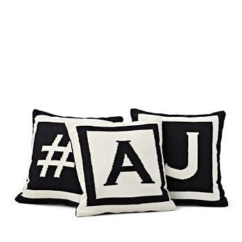 """Jonathan Adler - Letter Pillow, 16"""" x 16"""""""