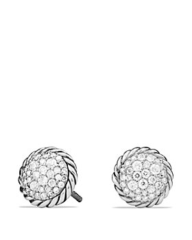 David Yurman - Sterling Silver Châtelaine Diamond Earrings