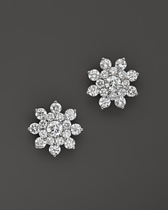 Diamond Cluster Star Stud Earrings in 14K White Gold, 1.70 ct. t.w. - 100% Exclusive - Bloomingdale's_0