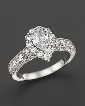 Click here for Vintage Inpired Diamond Engagement Ring in 14K Whi... prices