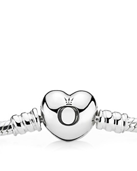 PANDORA - Moments Collection Sterling Silver Heart Clasp Bracelet