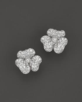 Bloomingdale S Diamond Flower Stud Earrings In 14k White Gold 2 20 Ct