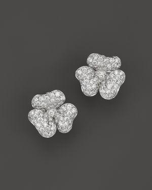 Diamond Flower Stud Earrings in 14K White Gold, 2.20 ct. t.w. - 100% Exclusive