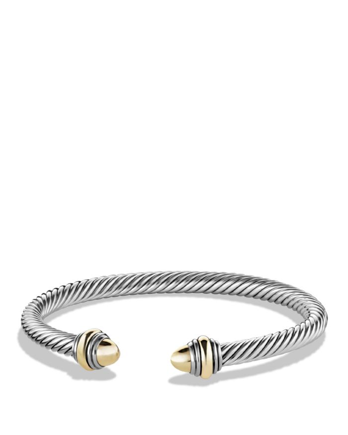 David Yurman Cable Classic Bracelet with 14K Gold, 5mm  | Bloomingdale's