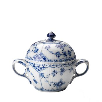 Royal Copenhagen - Blue Fluted Half Lace Sugar Bowl
