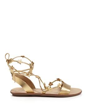 Loeffler Randall - Women's Starla Leather Ankle Tie Sandals