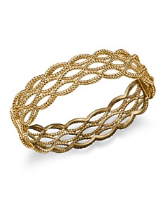 Roberto Coin 18K Yellow Gold Triple Row Twisted Bangle - Bloomingdale's_0