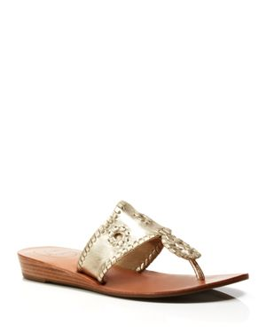 Jack Rogers Thong Demiwedge Sandals - Capri