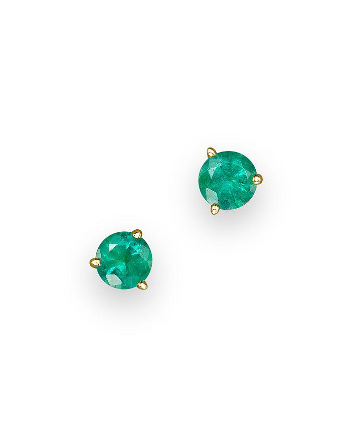 Bloomingdale's - Emerald Stud Earrings in 14K Yellow Gold- 100% Exclusive