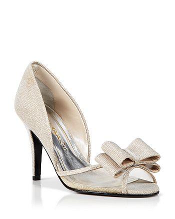 Caparros - Peep Toe D'Orsay Evening Pumps - Shawna Bow High-Heel