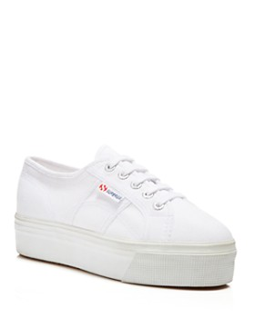 Superga - Women's Linea Lace Up Platform Sneakers