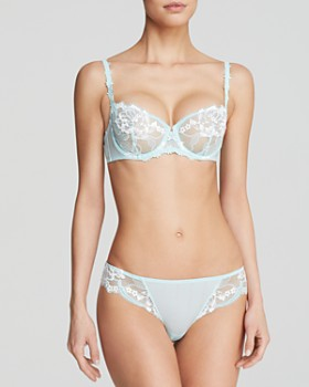 Simone Perele - Amour Demi Unlined Underwire Bra, Tanga & Suspender Belt