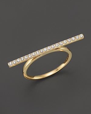 Diamond Bar Ring in 14K Yellow Gold, .19 ct. t.w. - 100% Exclusive