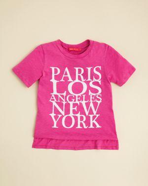 me.n.u. Girls' Cities Tee - Big Kid