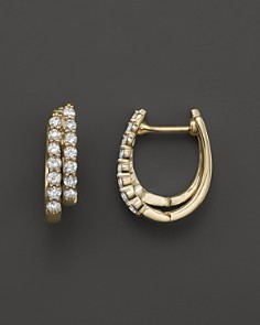 Diamond Double Row Hoop Earrings in 14K Yellow Gold, .50 ct. t.w. - Bloomingdale's_0