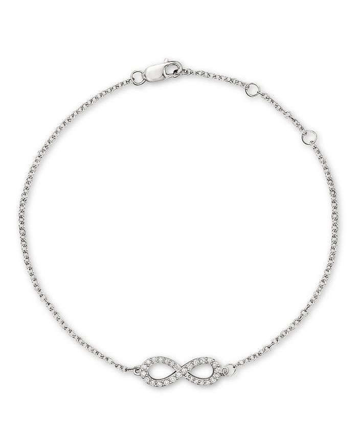 Bloomingdale's - Diamond Infinity Bracelet in 14K White Gold, .15 ct. t.w. - 100% Exclusive