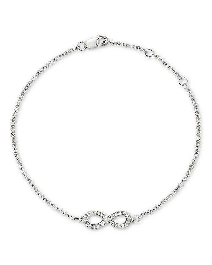 Bloomingdale's - Diamond Infinity Bracelet in 14K White Gold, .15 ct. t.w.- 100% Exclusive